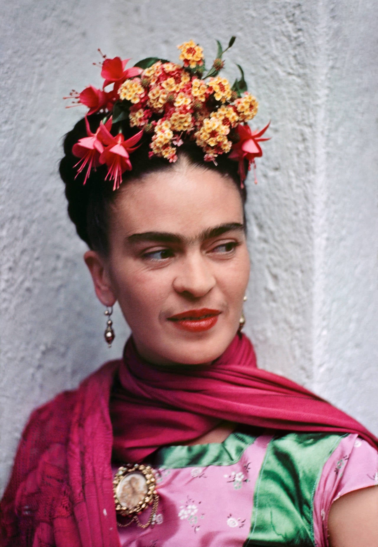 Frida in Pink and Green Blouse