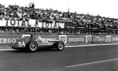 Juan Manuel Fangio, Maserati 250F, Riems, France