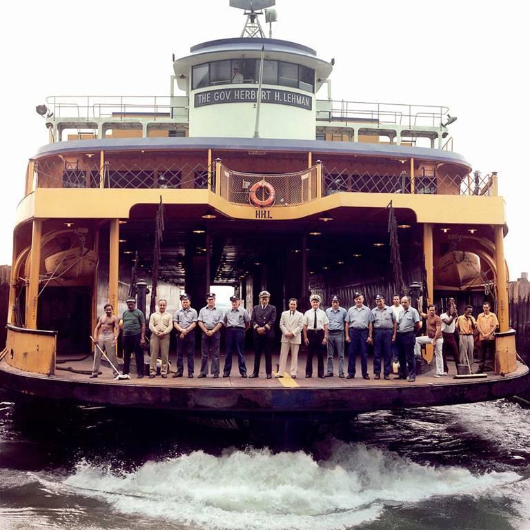 Staten Island Ferry, Narrows Bay, NY - Photograph by Neal Slavin