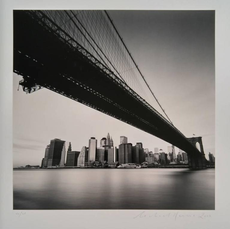 Brooklyn Bridge, Study 1, New York, USA - Contemporary Photograph by Michael Kenna