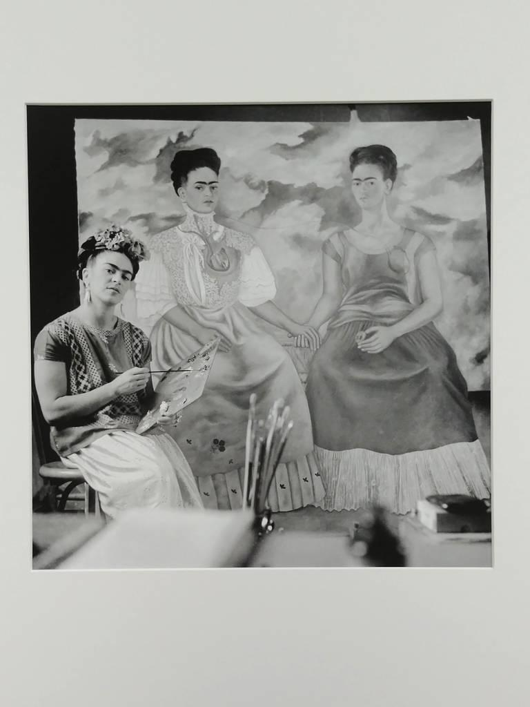 """Frida Painting """"The Two Fridas"""" - Photograph by Nickolas Muray"""