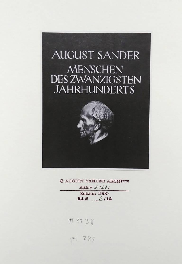 Art Dealer (Citizens of the 20th Century) - Gray Portrait Photograph by August Sander
