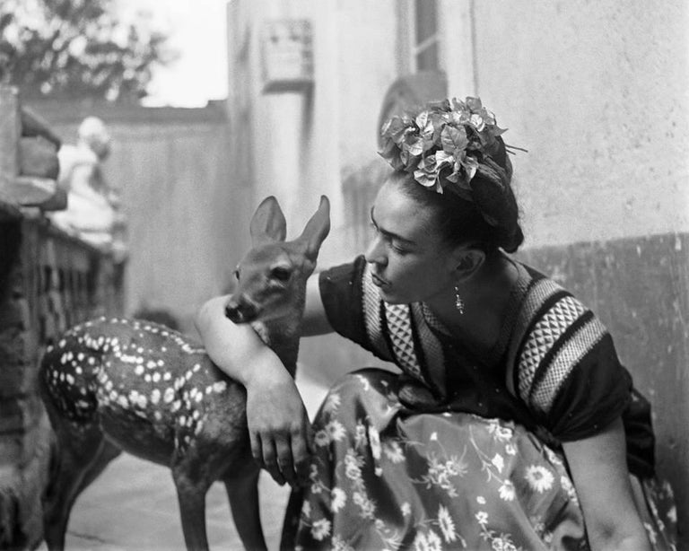 Nickolas Muray Portrait Photograph - Frida with Granizo, Version 2, Coyoacan