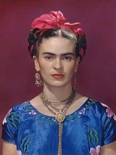 Frida Kahlo in Blue Silk Dress