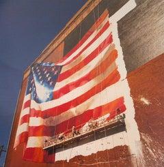 Flag, Delaware Avenue, Philadelphia, Pennsylvania