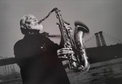 Sonny Rollins, Williamsburg Bridge, NYC; From Jazz Katz: The Sounds of New York
