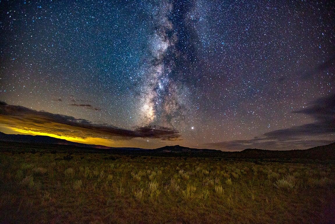 Open Landscape Milky Way