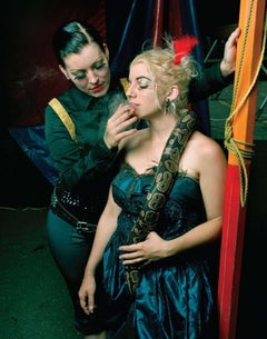 Chelsea and Natalie with Snake, New Jersey; From World of Wonders