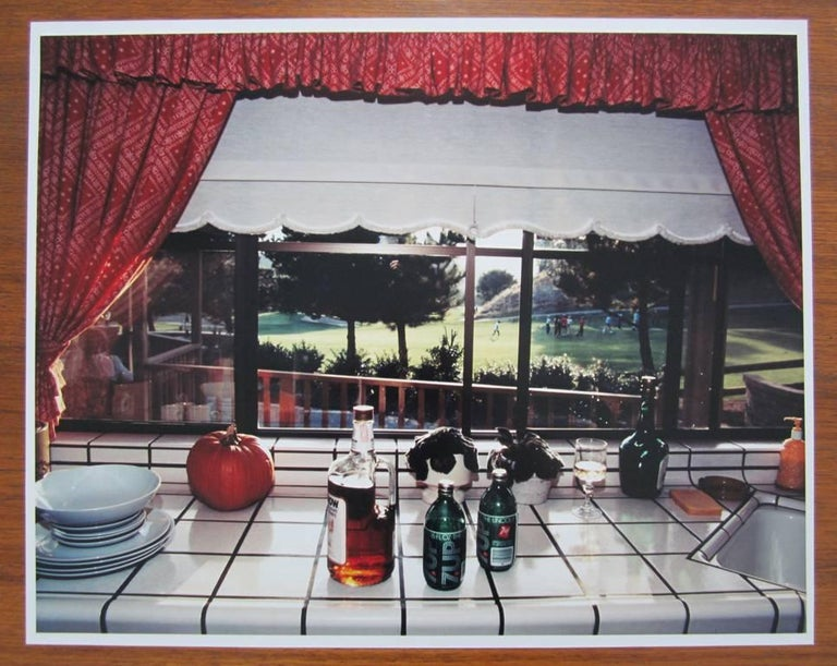 Bourbon and Seven is my favorite drink, from Suburbia - Post-Modern Photograph by Bill Owens