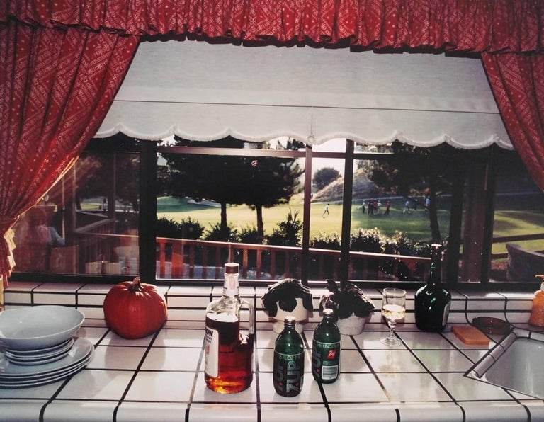 Bill Owens Color Photograph - Bourbon and Seven is my favorite drink, from Suburbia