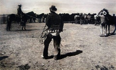 Untitled (Cowboys with Rope and Horses)