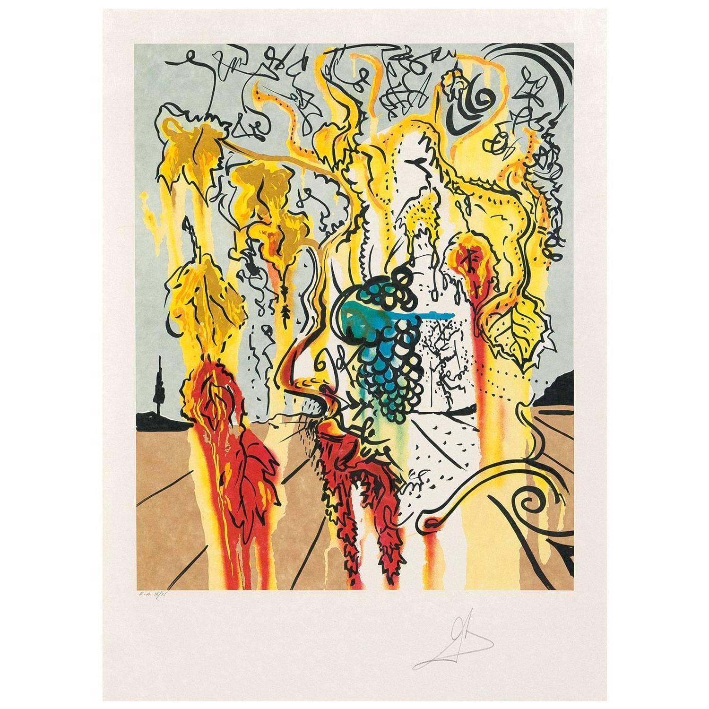 Salvador Dalí - Portrait of Autumn, Print at 1stdibs