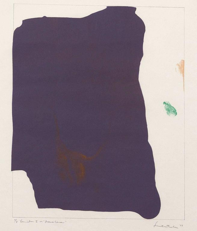 Mauve Corner  - Abstract Print by Helen Frankenthaler
