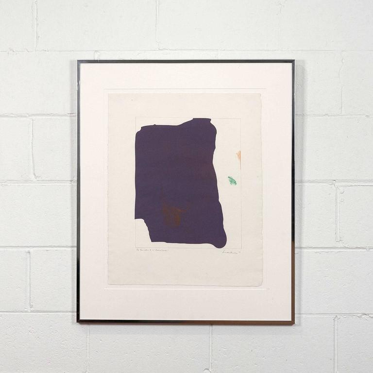 Mauve Corner  - Print by Helen Frankenthaler