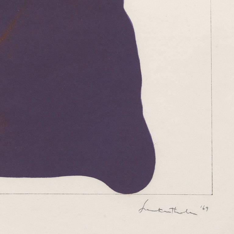 Mauve Corner  - Beige Abstract Print by Helen Frankenthaler