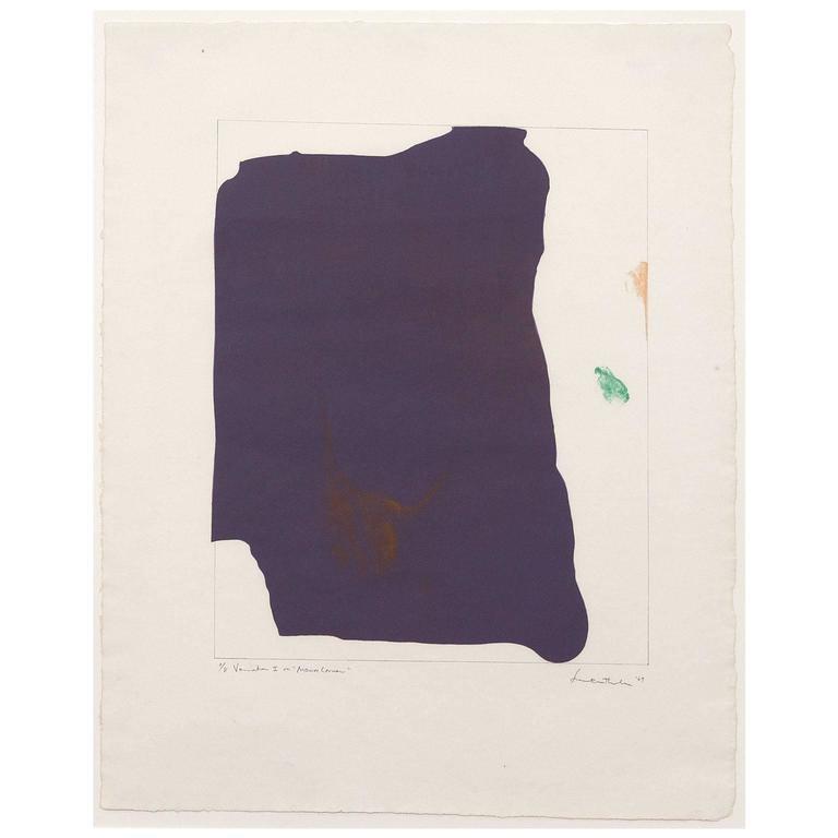 Helen Frankenthaler Abstract Print - Mauve Corner