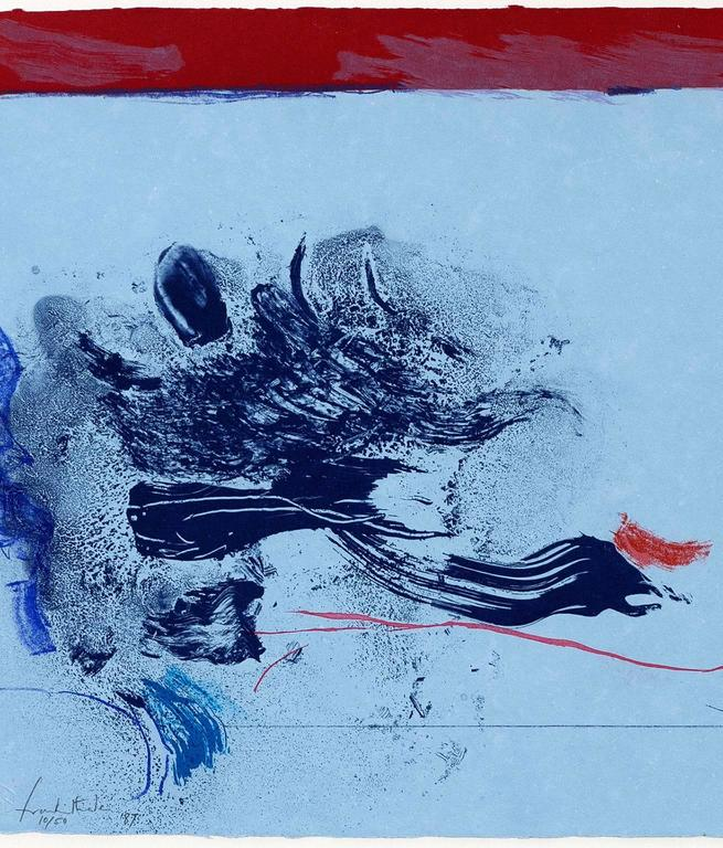 In the Wings - Blue Abstract Print by Helen Frankenthaler