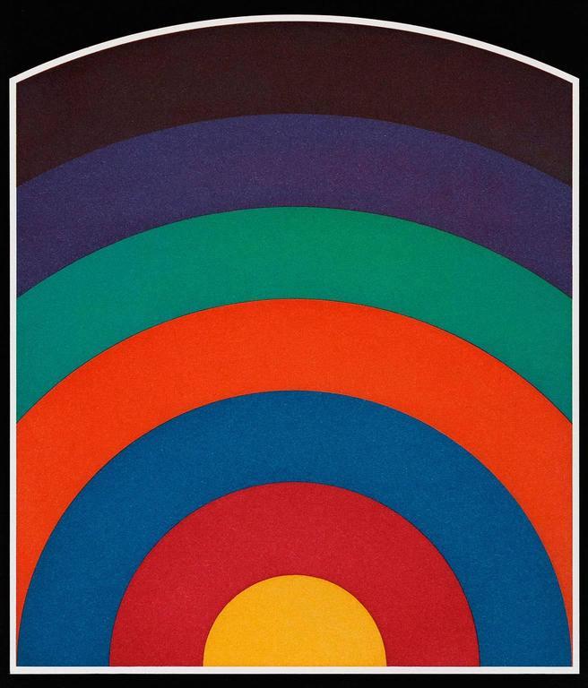 Sol LeWitt Abstract Print - 7 Equal Arcs