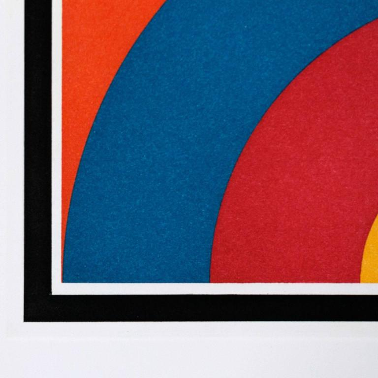 7 Equal Arcs - Abstract Print by Sol LeWitt