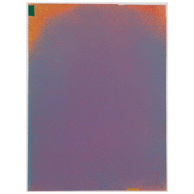 Jules Olitski Abstract Print - GRAPHIC SUITE I (MAUVE/BLUE)