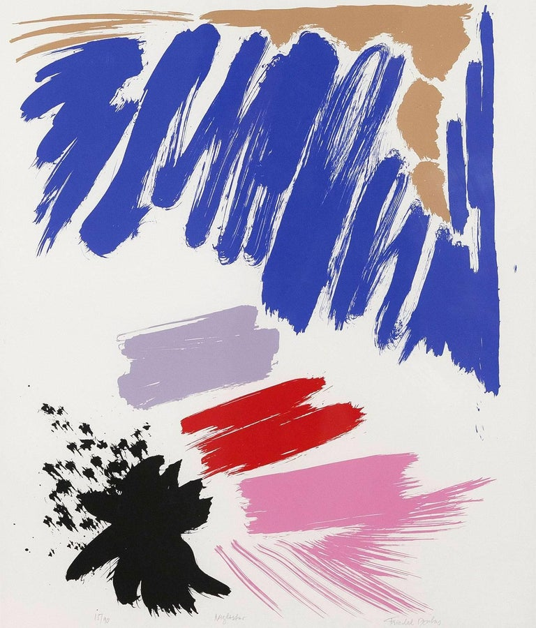 "Friedel Dzubas ""Night Star"" Screenprint, 1984"