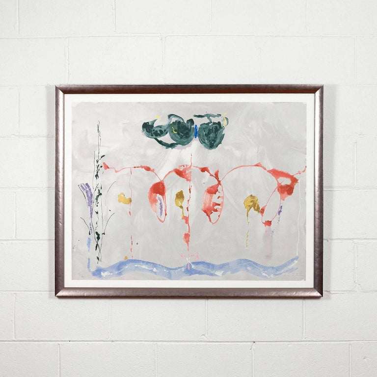 Aerie - Abstract Expressionist Print by Helen Frankenthaler