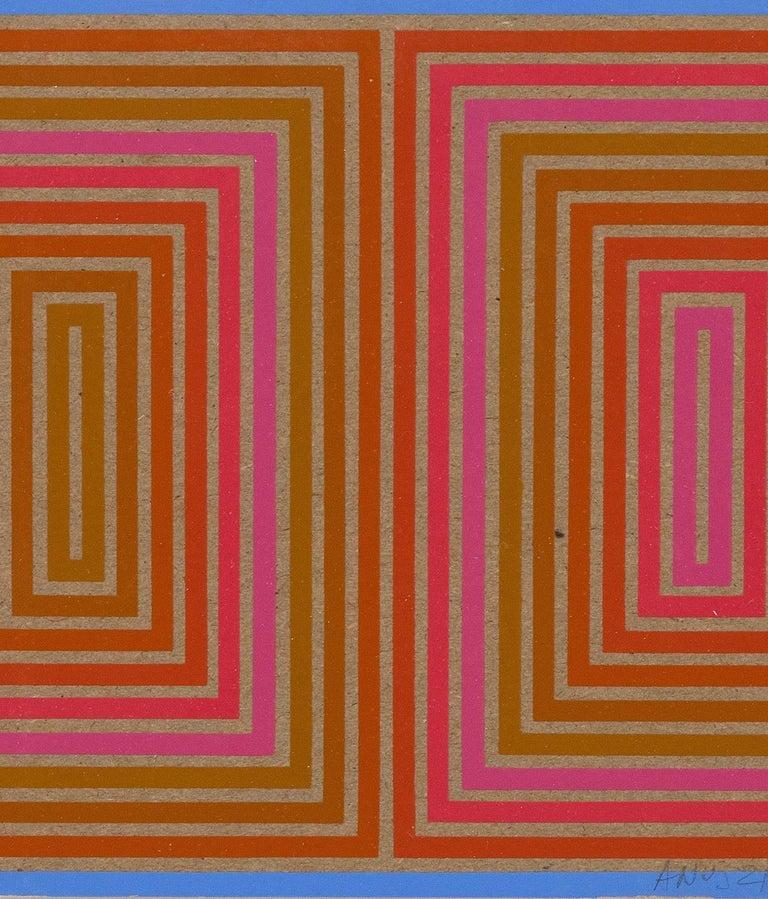 "Richard Anuszkiewicz ""Double Structure"" Screenprint, 1973"