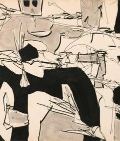 """Gene Davis """"Dance Party"""", 1952"""