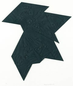 "Louise Nevelson ""Six Pointed Star"" Cast Paper Relief, 1980"