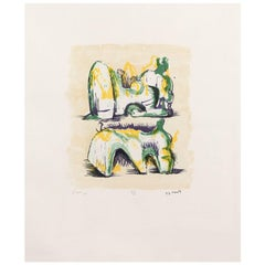 """Henry Moore """"Two Reclining Figures"""""""