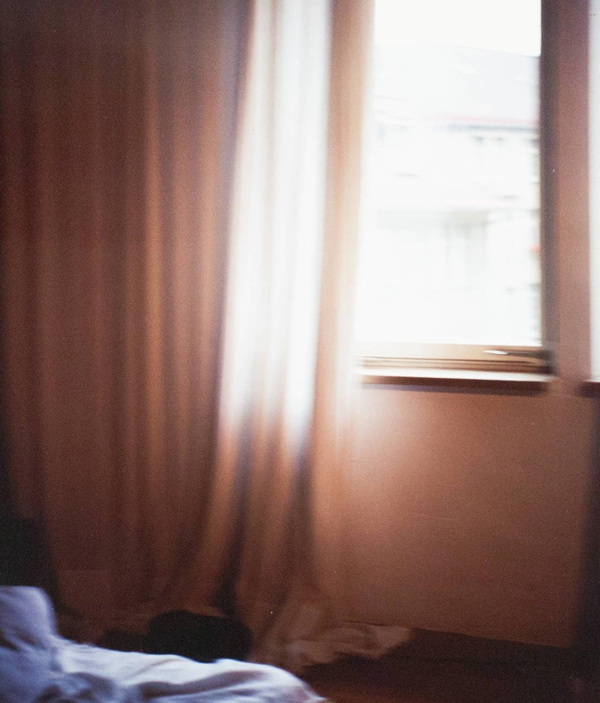 Hotel Room, Zurich 1988 - Photograph by Nan Goldin