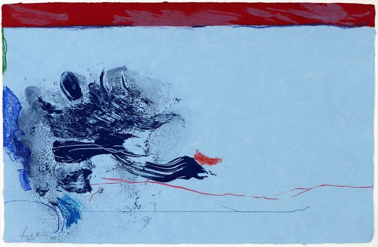 Helen Frankenthaler Abstract Print - In the Wings