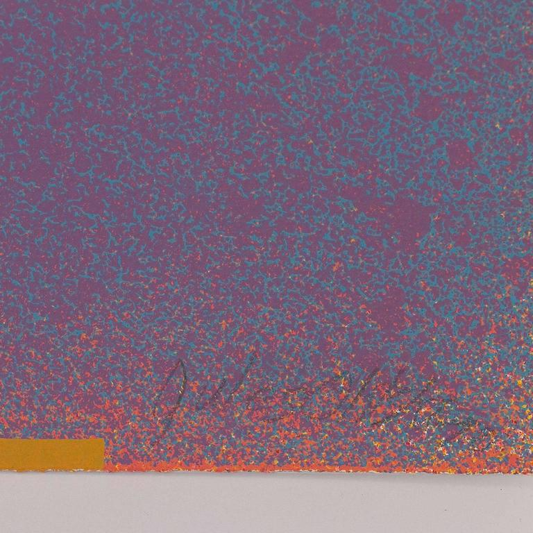 GRAPHIC SUITE I (MAUVE/BLUE) - Abstract Expressionist Print by Jules Olitski