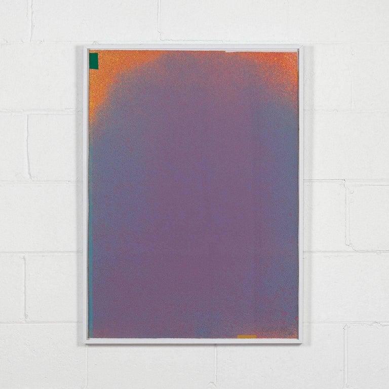 GRAPHIC SUITE I (MAUVE/BLUE) - Print by Jules Olitski