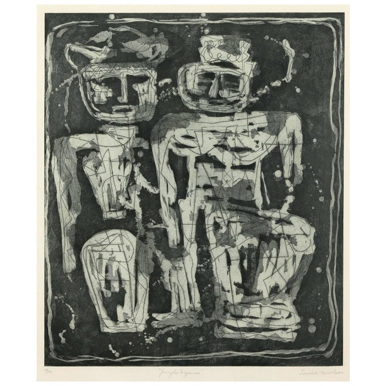 Louise Nevelson Louise Nevelson Quot Jungle Figures Quot Etching