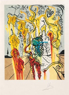 "Salvador Dalí - Salvador Dali ""Portrait of Autumn"" - lithograph from Joy of Bacchus, 1980"