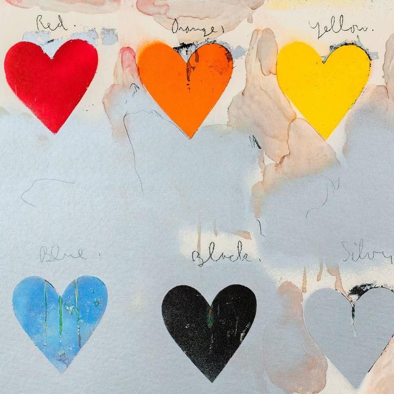 jim dine   look u0026quot  litho poster at 1stdibs