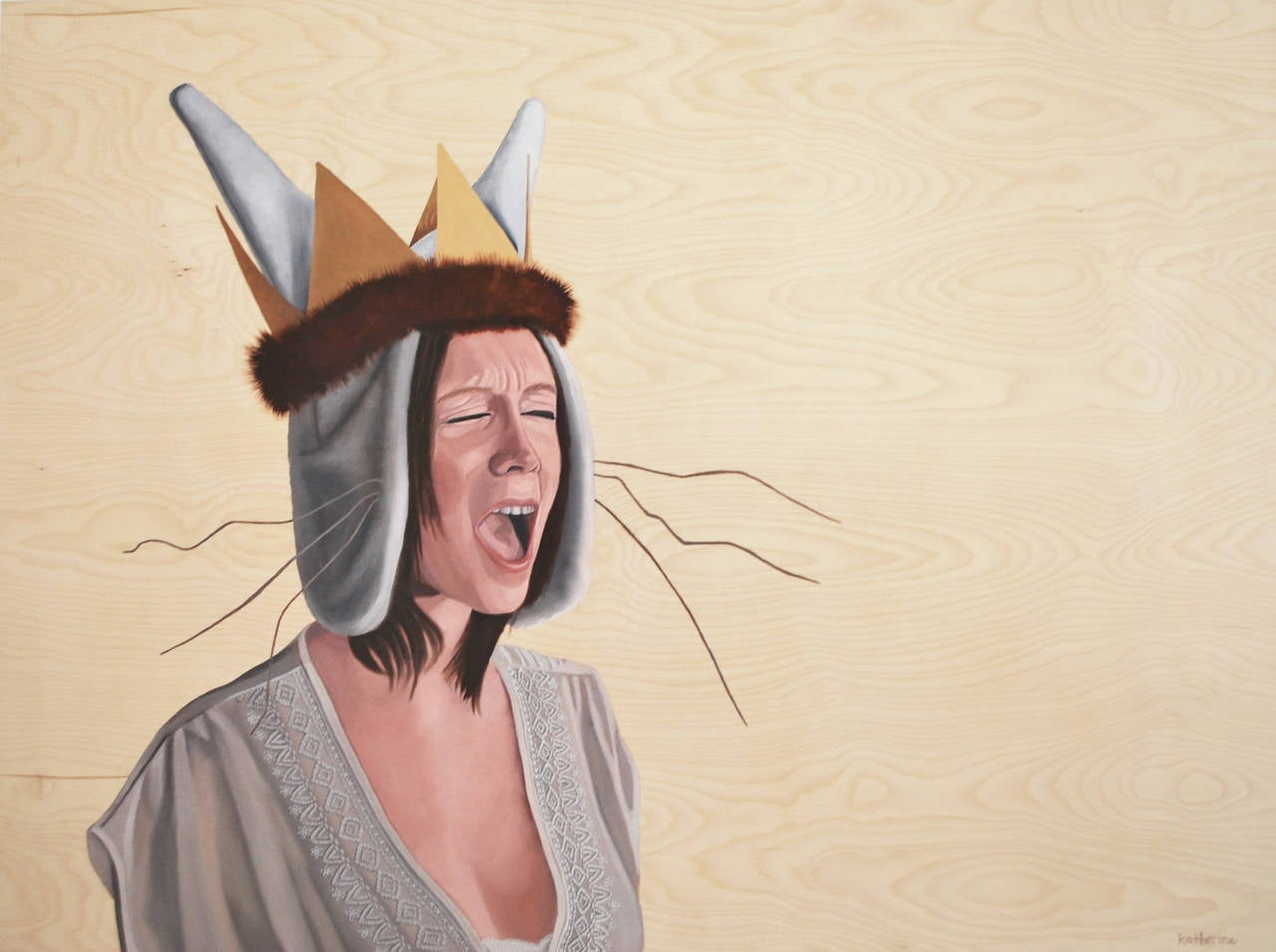 Katherine Rohrbacher - Wild Thing, Painting For Sale at