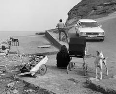 Crabs and people, Skinningrove, N Yorkshire