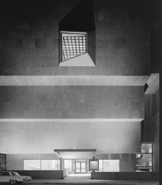 Ezra Stoller Black and White Photograph - Whitney Museum, Marcel Breuer, New York, NY