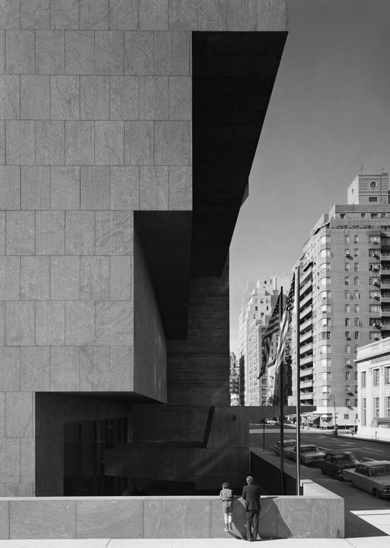 Ezra Stoller Black and White Photograph - Whitney Museum, Marcel Breuer, New York, NY