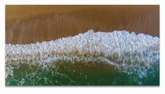 Montauk, Long Island, aerial view of the beach, ocean, wave