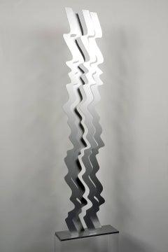 Outdoor sculpture, Wave, steel standing sculpture