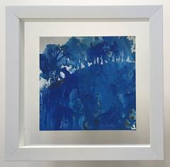 Blue painting, framed