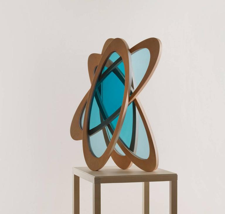 Sculpture, RESEMBLING A WINDOW IN FORM OR FUNCTION  - Brown Abstract Sculpture by Eddy Stikkelorum