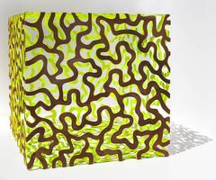 Steel sculpture, Cube, Brain Coral