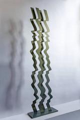 Wave, steel standing sculpture