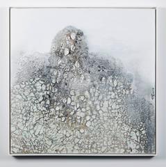 Ceramic on canvas, FUTU 02,