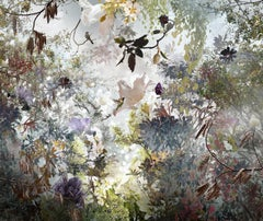 Ysabel Lemay beautiful photo collage with flowers, trees and birds, Ornatus.