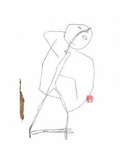 Serge Bloch, original work on paper, Untitled